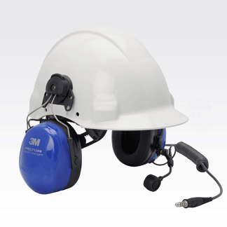 Image of PELTOR ATEX Twin Cup Headset with Boom Mic PMLN6333